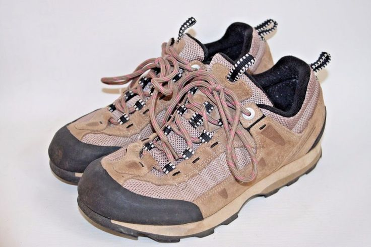 Salomon Woman's Shoes Outdoor Brown Suede Leather Hiking Trekking  Walking 5,5UK