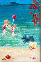 Jo Roffe - Beach II. Acrylics on canvas