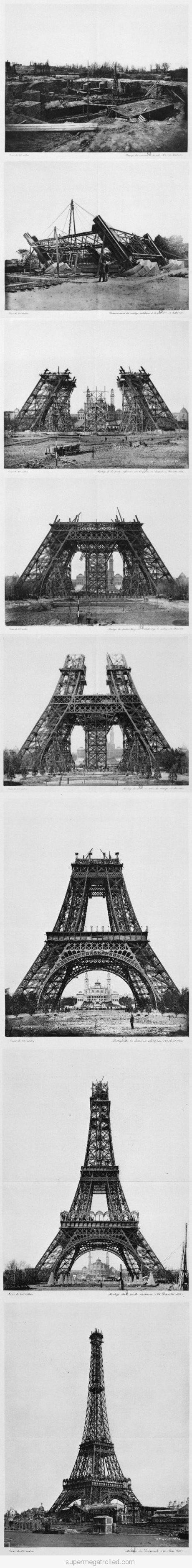 Love these historical shots of the Eiffel Tower being built. #Paris