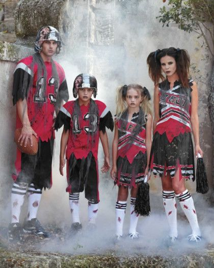 zombie cheerleader and football players costumes $32-$52 | Chasing Fireflies Halloween 2015                                                                                                                                                                                 More