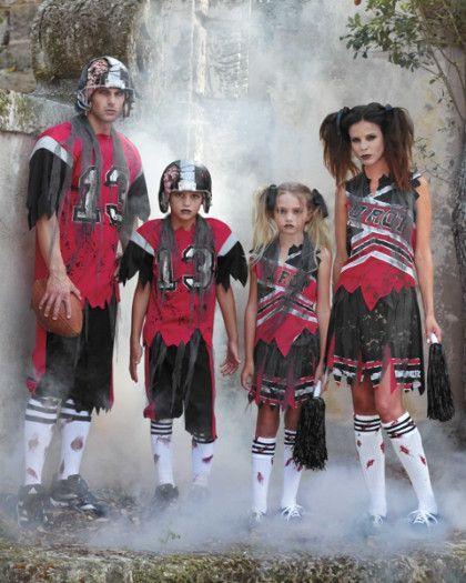 zombie football player boys costume