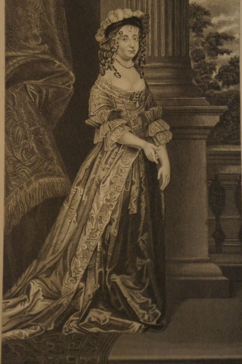 """1872 engraving of Margaret Cavendish, Duchess of Newcastle-upon-Tyne. Cavendish wrote extensively on the scientific method and natural philosophy and her 1666 novel """"The Blazing World"""" is considered one of the earliest forerunners to the science fiction genre."""