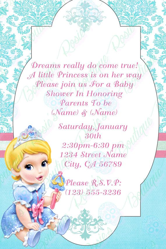 cinderella baby shower  invitations by RosiesBoutique181 on Etsy