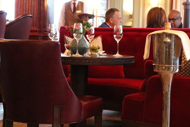 Art Deco bar at The Gleneagles Hotel, Perthshire, Scotland.