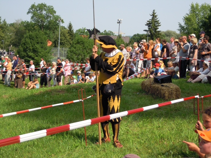 Frundsbergfest, a medieval event in Mindelheim / Germany - a 'Landsknecht' in his traditional appearence
