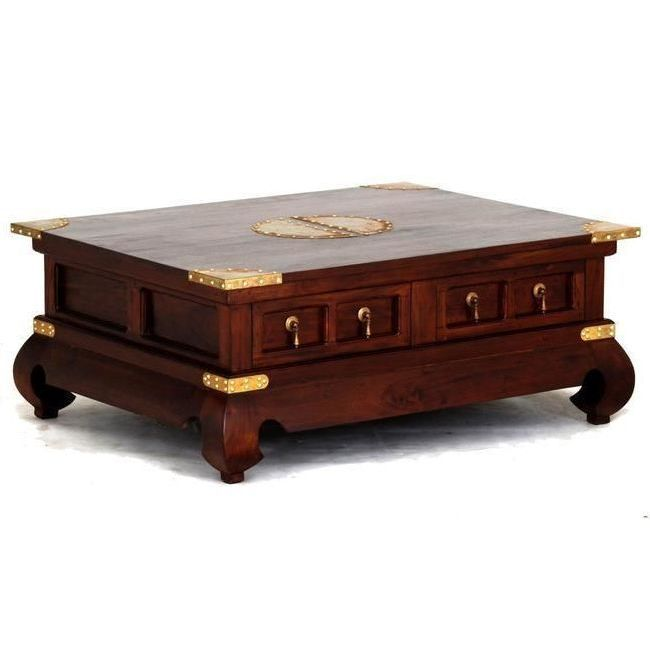 Chinese Coffee Table W/ 4 Drawers In Mahogany 80cm Shopping, Buy Living  Room Tables