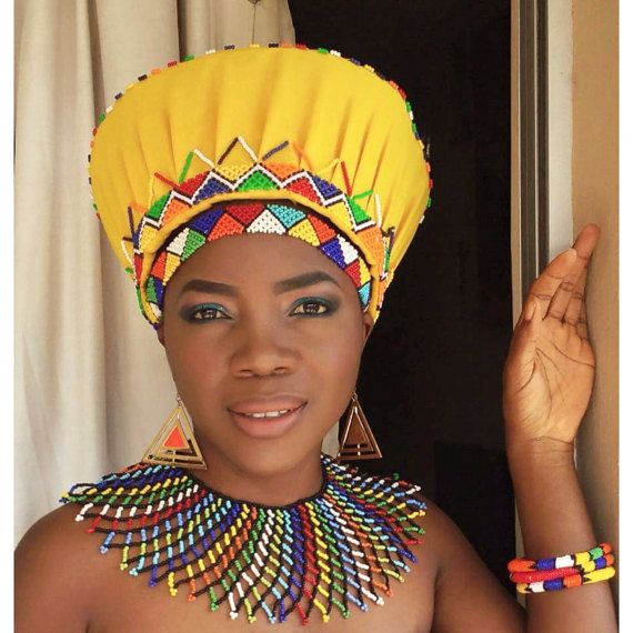 Zulu traditional basket hat by ZuluBeads on Etsy