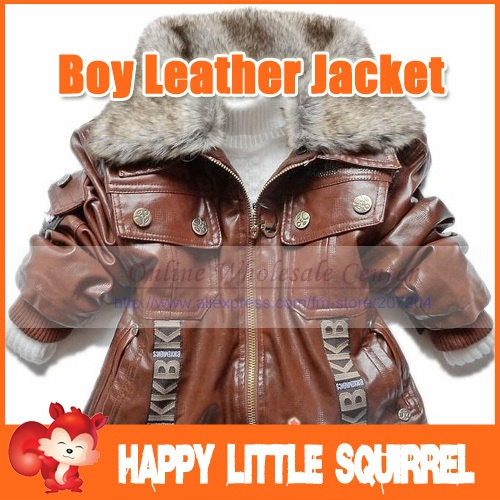 Fast shipping Fashion baby boys leather jacket kids thick fleece fur collar winter coat children clothing retail wholesale on AliExpress.com. 5% off $23.61