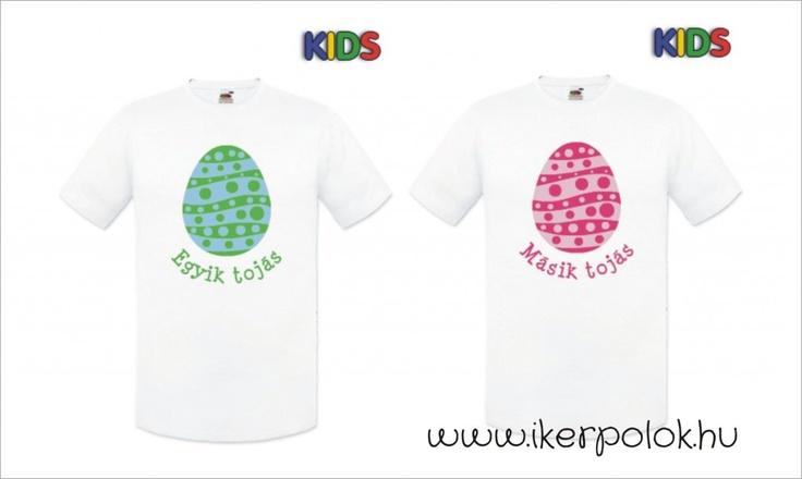 Új, húsvéti iker pólók! | Iker Pólók - Egyedi Iker Ruhák minden korosztálynak, www.ikerpolok.hu