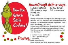 Grinch Party Printables | obSEUSSed: 5th Day of Christmas Books: Grinch Cookie Recipe