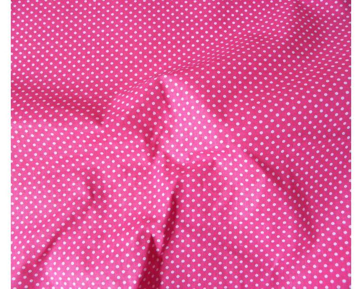 Apró pöttyös pamut vászon, pink