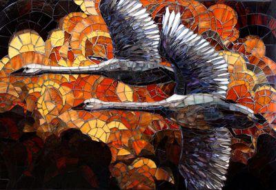 In Flight Glass Mosaic