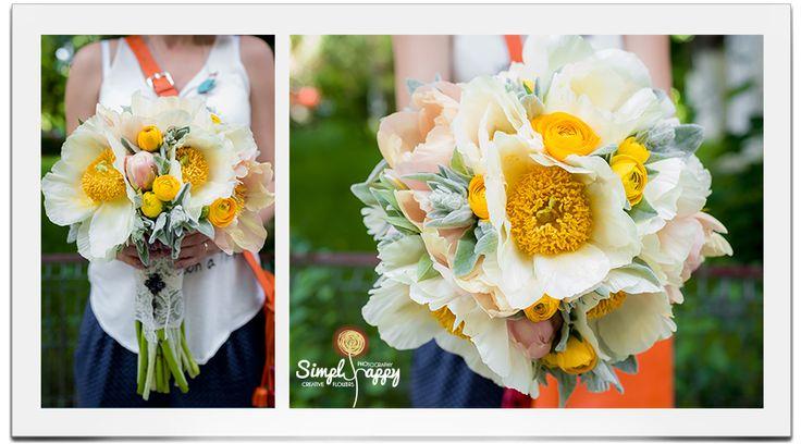 Solar Bridal Bouquet www.simplyhappy.ro www.facebook.com/faitamain