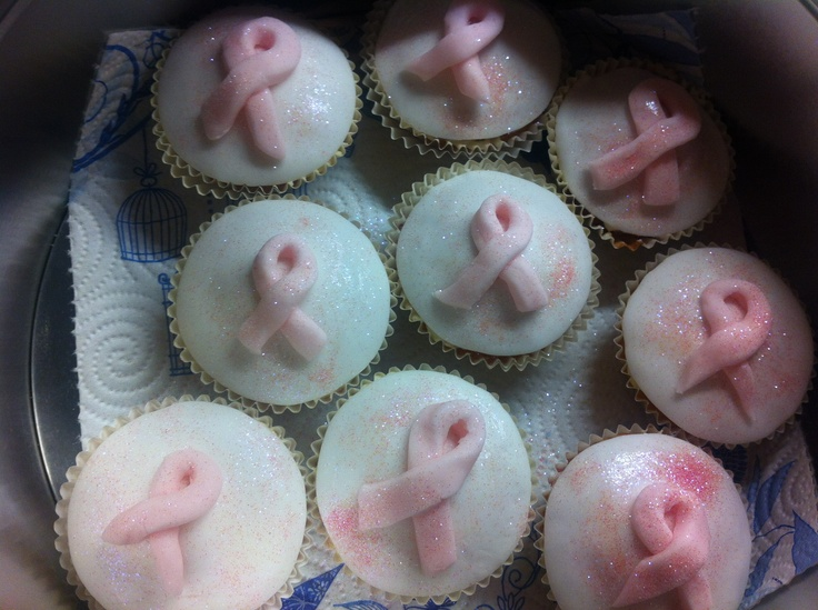 Breast cancer cakes - with white chocolate chip sponge