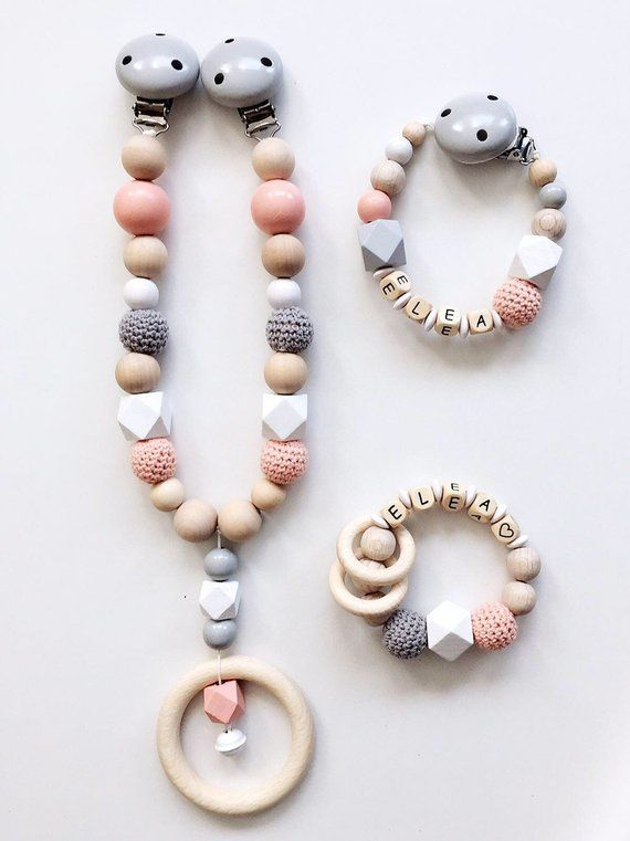 Set Pacifier Chain Personalized