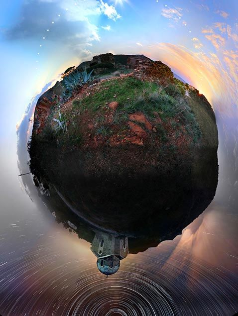 (Chris Kotsiopoloulos/Caters News Agency)  Chris Kotsiopoloulos created the 360-degree shot in the course of one 24-hour period, capturing sunrise through sunset in Sounio, Greece.