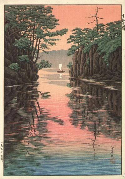 Lake Towada  by Takashi Ito, 1932  (published by Watanabe Shozaburo)