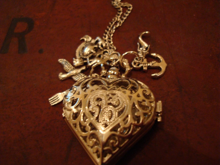 This is absolutely dreamy <3 Want to get this sooooooon!!    Little Mermaid Heart Pocket Watch Necklace by BaillieDay
