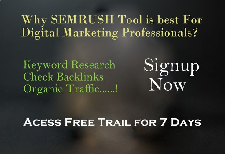 Are You searching for best SEO tool which helps you to do keyword research, and provides tracking keyword ranking, where you can check backlinks, check competitor analysis. It is SEO tool to audit your blog or website. If you are ready to audit your blog, then let me give the good intro to one  only tool. Even it is the perfect selection for SEO digital marketing professionals  bloggers. The tool is SEMRUSH. what is semrush semrush pricing semrush semrush free trial