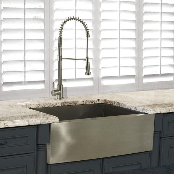 Vigo 36 0 In X 22 25 In Premium Satin Single Basin: 25+ Best Ideas About Stainless Steel Apron Sink On