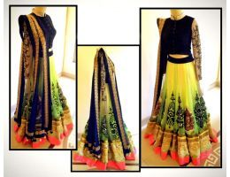 Try n Get Yellow Fancy designer Wedding Lehengas