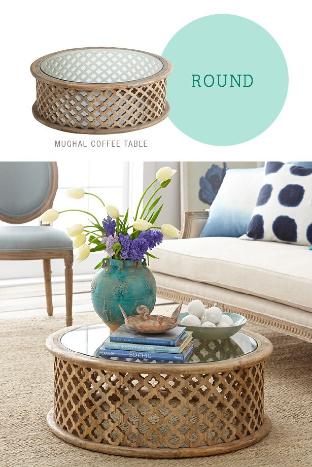 How To Style a Coffee Table - Round