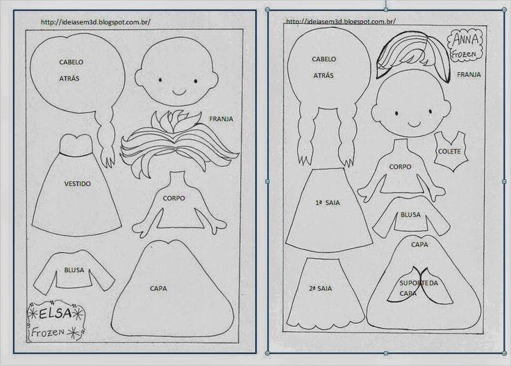 Mimin Dolls: Frozen - bonequinhas em feltro