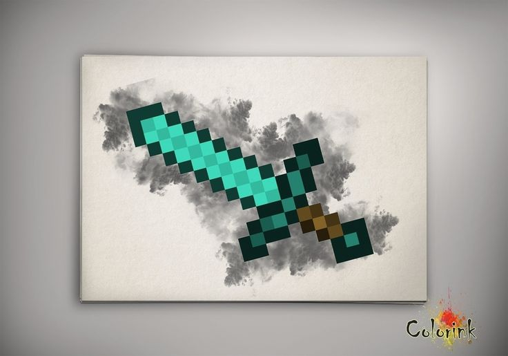 Image of  Minecraft Steve Watercolor Poster Print Game Art n254
