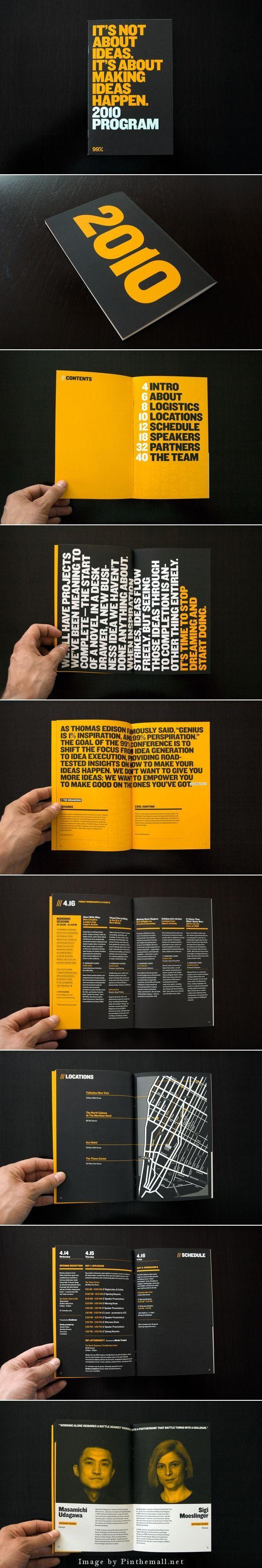 (200) 99% Conference 2010: Branded Materials | Editorial Design | Pinterest