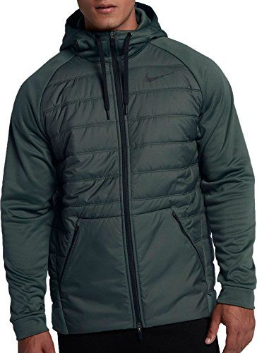 6b531b8459f3 Nike Men s Winterized Therma Full Zip Jacket(Vintage Green