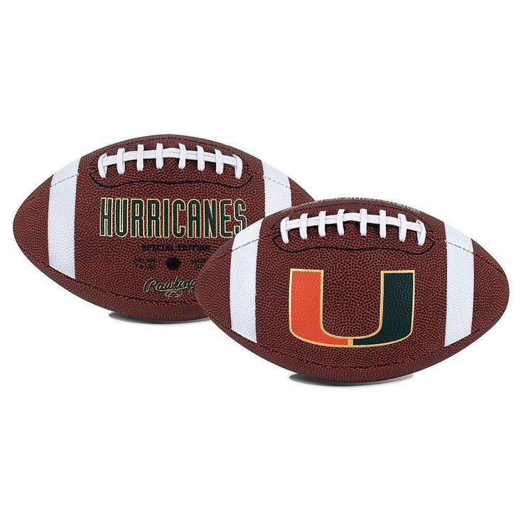 Rawlings Miami Hurricanes Game Time Football, Red