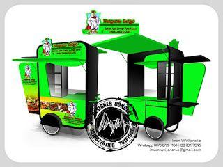 Jasa Desain Logo Kuliner |  Desain Gerobak | Jasa Desain Gerobak Waralaba: Desain Gerobak Dorong Hayam Jago