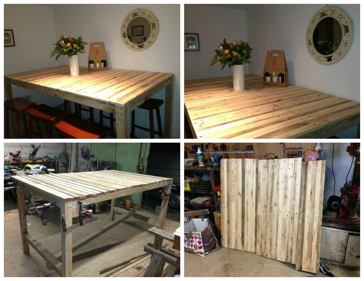 17780 best recycled pallets ideas projects images on for Table haute palette