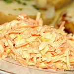Marchew seler pietruszka por majonez