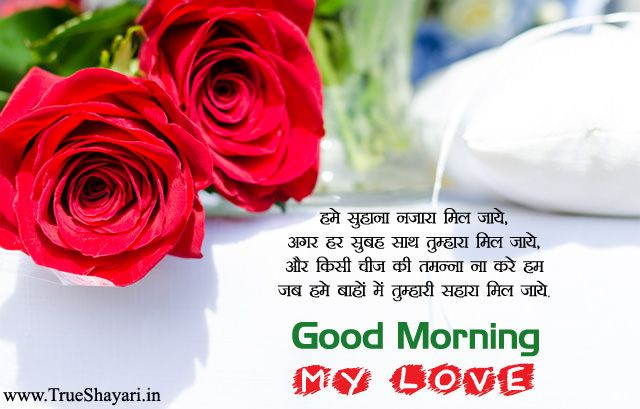 Romantic Good Morning Wishes For Gf Bf Couple Hindi Love Shayari Images In 2020 Good Morning Images Good Morning Wallpaper Morning Images