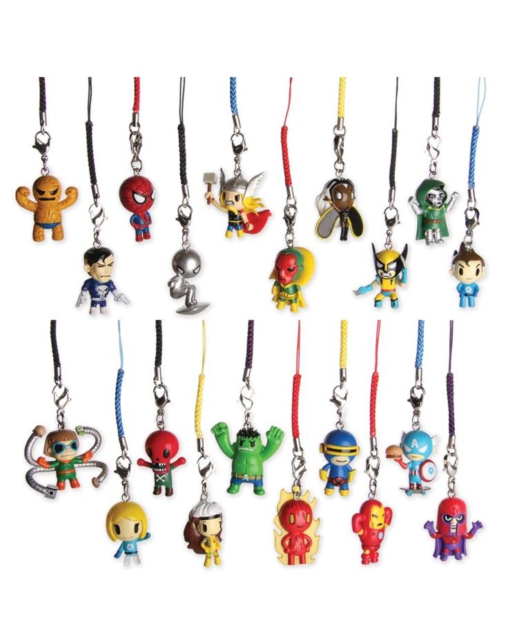 Tokidoki Marvel Frenzies!Tokidoki Marvel, Frenzy Charms, Gift Ideas, Dc Comics, Zippers Pulled, Toys Figures, Frenzy Zippers, Marvel Clay Charms, Marvel Frenzy
