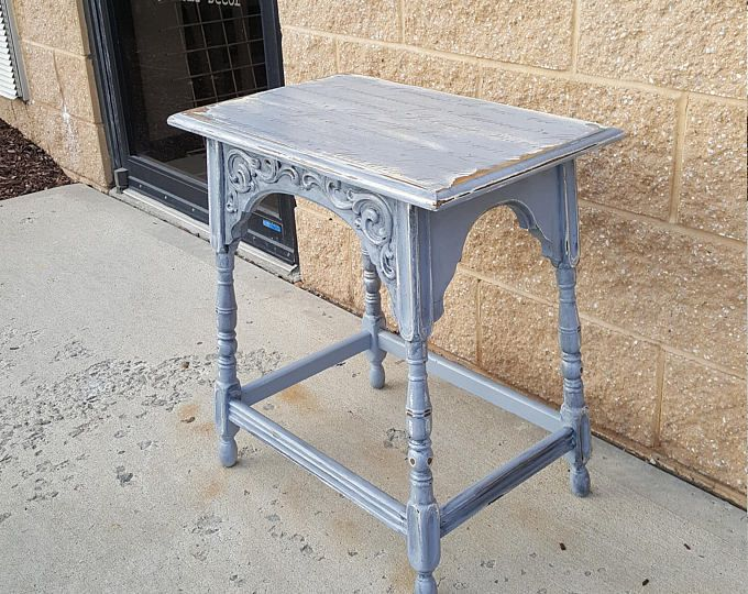PICK UP ONLY Vintage Farmhouse Shabby chic table, french image, rustic country bedroom, night stand, bedside table, french country, cottage
