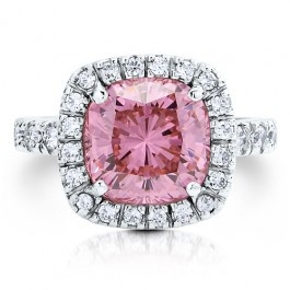 Pink Cushion CZ Cocktail Ring