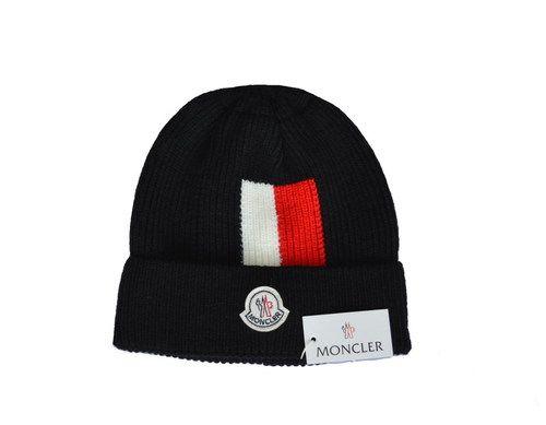 ec5c5b09452 MONCLER Winter Outdoor Sports Warm Knit Beanie Cap Pom Pom Knit Beanie