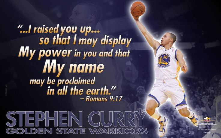 NBA Most Valuable Player, Stephen Curry, shares his Christian faith story: http://www.fca.org/2015/05/04/curry-in-his-own-words/#