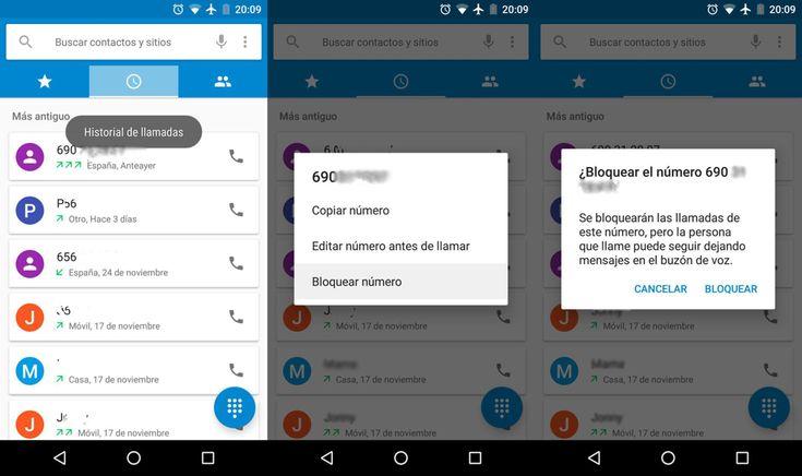 Tutorial básico: Cómo bloquear llamadas desde la aplicación oficial de teléfono para Android. Fácil y seguro.