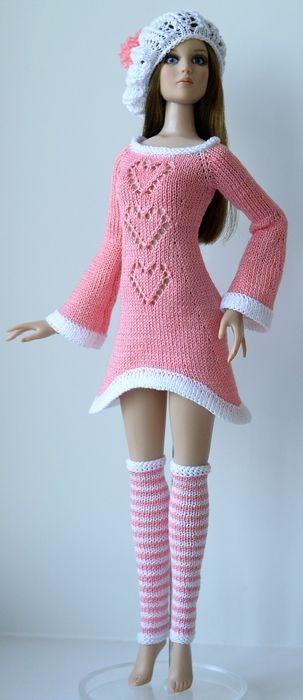 Dress, Hat & Leg Warmers - (no pattern) #