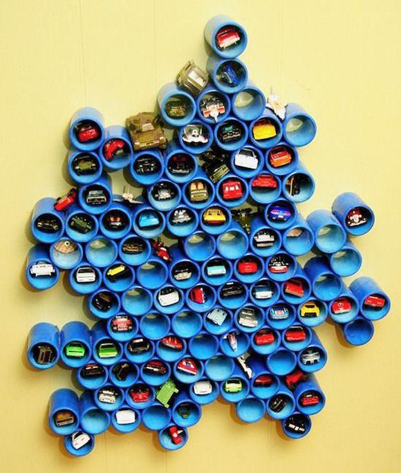 Las 25 mejores ideas sobre tubos de pvc en pinterest y m s - Estanterias para guardar juguetes ...