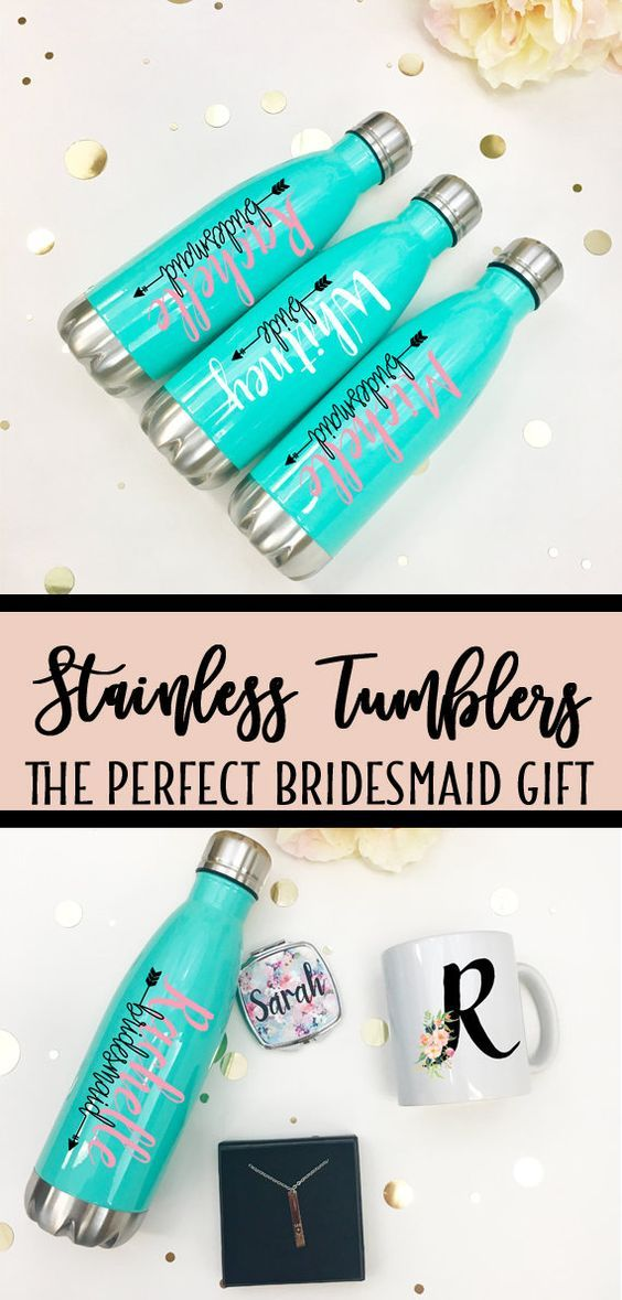 Personalized Tumblers Inexpensive Bridesmaids Gift Teacher