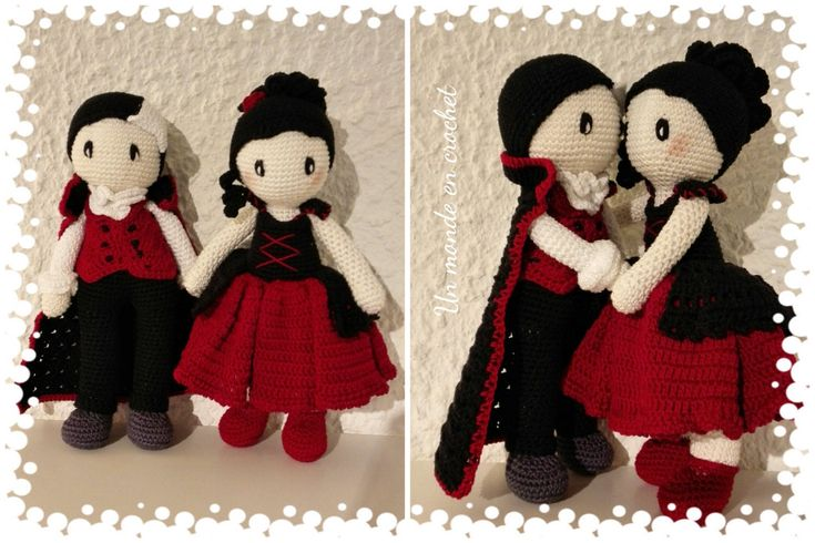 Drake and Ulla (PDF in french) by Unmondeencrochet on Etsy https://www.etsy.com/listing/252558887/drake-and-ulla-pdf-in-french