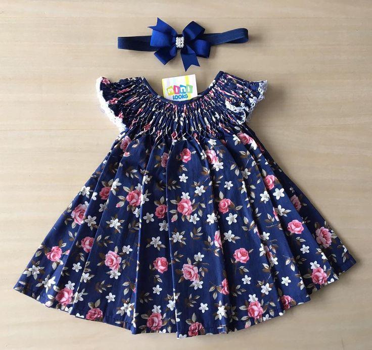 """374 curtidas, 4 comentários - Mini Looks® (@mini_looks) no Instagram: """"Nosso clássico vestido casinha em floral encantador!  lindo de viver  veste 0-3 meses…"""""""