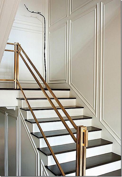 Very cool stair railing! Martha Finger Baxter-designed house in Houston. Image courtesy of Cote de Texas blogspot – click through to see post.