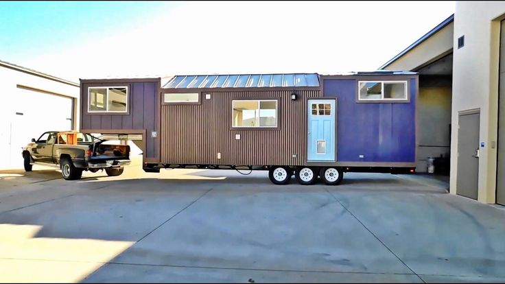 Purple Monster Tiny House Is For Traveling Military Family