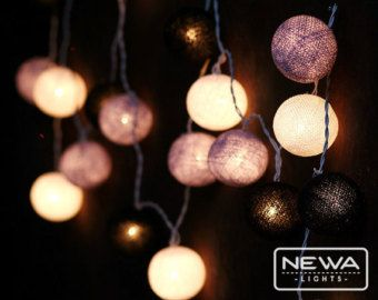 Nice 20 Beige Cotton Ball Fairy Lights Indoor String Lights Warm White Christmas  Lights Gifts Bedroom Nursery Patio Party Wall Hanging Home Decor