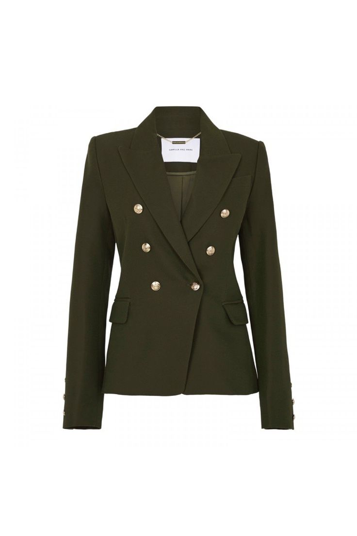 Dimmer Blazer in Khaki by CAMILLA AND MARC